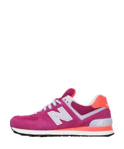 New Balance | 574 Suede Mesh Sneakers