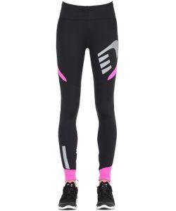NEWLINE | Reflective Stretch Running Leggings