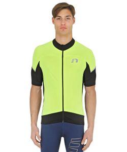 NEWLINE | Stretch Mesh Zip-Up Cycling T-Shirt