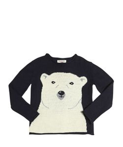 Nice Things Mini | Polar Bear Wool Cashmere Blend Sweater