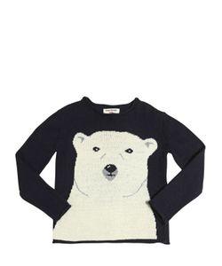 Nice Things Mini | Polar Bear Wool Cashmere Blend Sweater