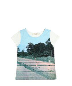 Nice Things Mini | Printed Cotton Linen Blend T-Shirt
