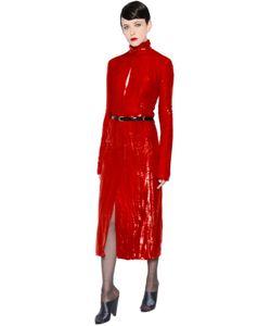 Nina Ricci   Shiny Silk Velvet Dress
