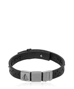 Northskull | Oka Laser-Cut Leather Bracelet
