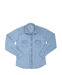 NUPKEET | Denim Effect Cotton Chambray Shirt