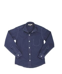 NUPKEET | Polka Dot Print Cotton Poplin Shirt