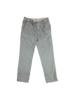 NUPKEET | Slim Fit Striped Cotton Canvas Pants