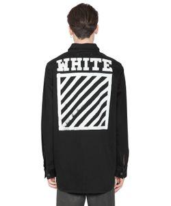 Off White | Stripes Print Cotton Denim Shirt
