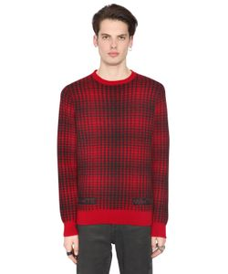 Off White | Geelong Lambs Wool Plaid Sweater