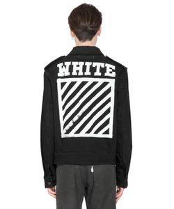 Off White | Stripes Printed Cotton Denim Jacket