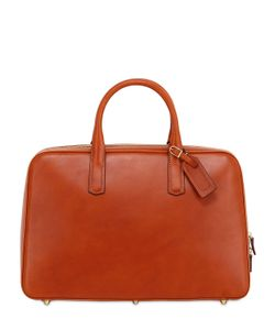 OHBA | Slim Overnight Leather Briefcase