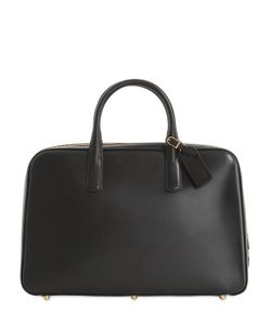 OHBA | Slim Overnight Leather Briefcase