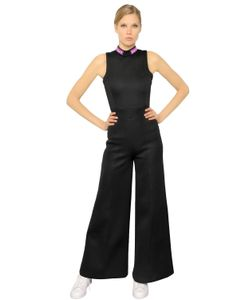 Omelya | Embroidered Patches Neoprene Jumpsuit