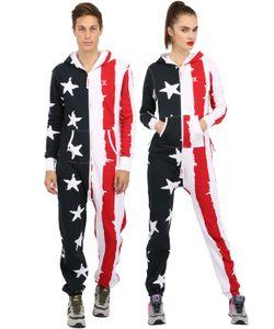 Onepiece | Cotton Blend Stars Stripes Jumpsuit