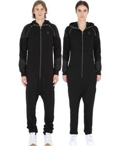 Onepiece | Detachable Sleeves Cotton Piqué Jumpsuit