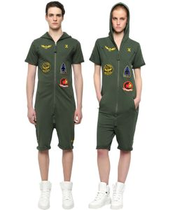 Onepiece | French Terry Cotton Aviator Jumpsuit
