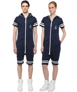 Onepiece | Naval French Terry Cotton Jumpsuit