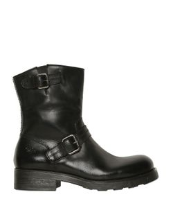 Oxs | Belted Leather Boots