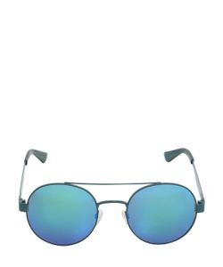 Oxydo | Iridescent Lenses Round Metal Sunglasses