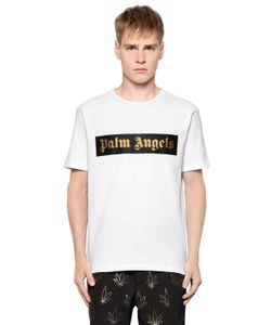 PALM ANGELS | Logo Printed Cotton Jersey T-Shirt