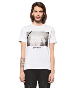 PALM ANGELS | No Bikes Printed Cotton Jersey T-Shirt