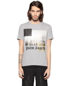 PALM ANGELS | Los Angeles Print Cotton Jersey T-Shirt