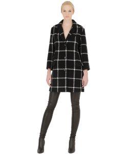 PALTÒ   Checked Alpaca Mohair Wool Coat