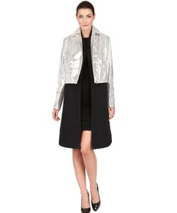 PASKAL | Laminated Leather Wool Cloth Coat