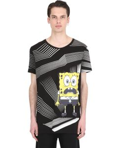 PATRICK LOVES SPONGEBOB BY PM | Shocked Spongebob Cotton Jersey T-Shirt