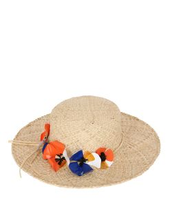 PATRIZIA FABRI | Straw Hat With Floral Hatband