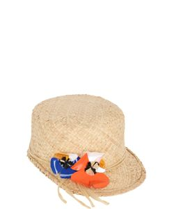 PATRIZIA FABRI | Straw Cap With Floral Detail