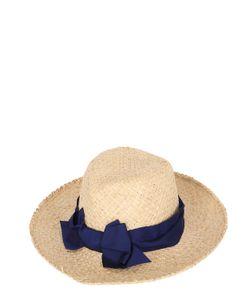 PATRIZIA FABRI | Straw Hat With Grosgrain Bow