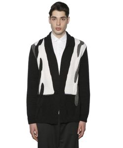 PAUL MÉMOIR | Intarsia Wool Alpaca Cardigan