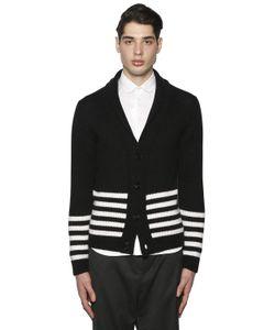 PAUL MÉMOIR | Striped Wool Alpaca Cardigan