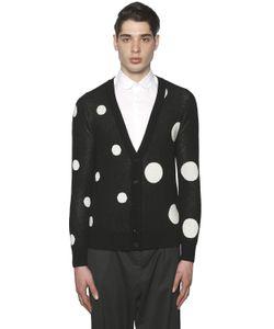 PAUL MEMOIR | Polka Dots Wool Blend Jacquard Cardigan