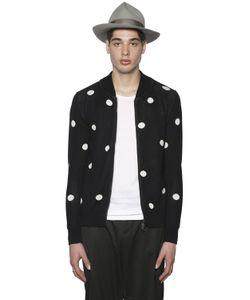 PAUL MÉMOIR | Polka Dots Cotton Bomber Sweater