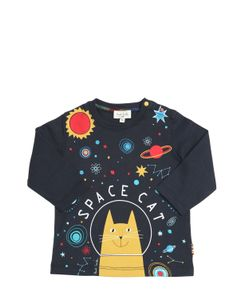 Paul Smith Junior | Space Cat Print Cotton Jersey T-Shirt