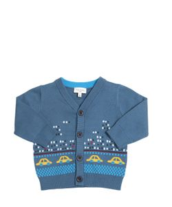 Paul Smith Junior | Taxi Intarsia Cotton Cardigan