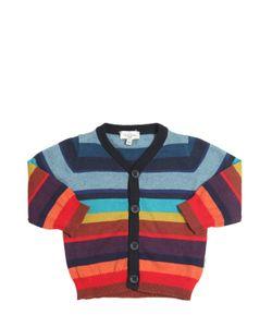Paul Smith Junior | Striped Cotton Cashmere Cardigan