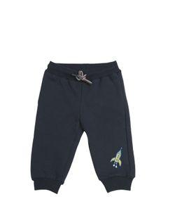 Paul Smith Junior | Rocket Ship Printed Cotton Jogging Pants