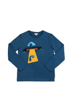 Paul Smith Junior | Ufo Printed Cotton Jersey T-Shirt