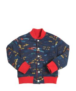 Paul Smith Junior | Printed Reversible Cotton Bomber Jacket