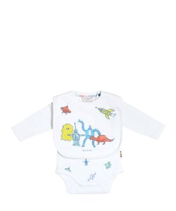 Paul Smith Junior | Printed Cotton Jersey Bodysuit Bib
