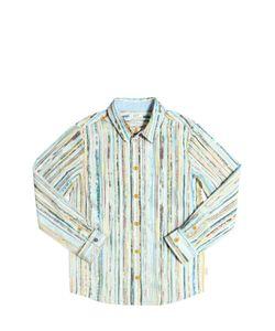 Paul Smith Junior | Striped Cotton Poplin Shirt