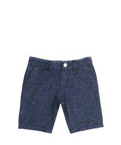 Paul Smith Junior | Stretch Cotton Denim Jacquard Shorts