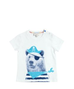 Paul Smith Junior | Pirate Bear Print Cotton Jersey T-Shirt
