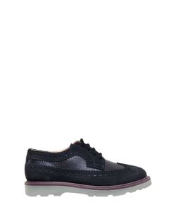 Paul Smith Junior | Laminated Leather Suede Lace-Up Shoes