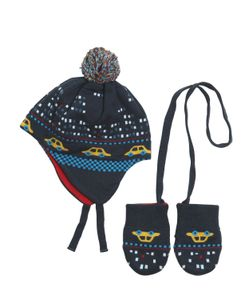 Paul Smith Junior | Doubled Knitted Cotton Hat Mittens