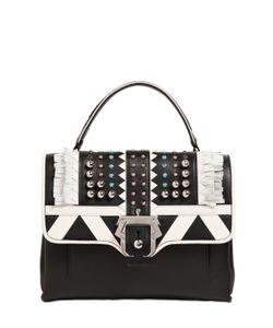 Paula Cademartori | Petite Faye Studded Leather Bag W/Fringe