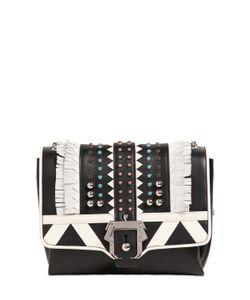 Paula Cademartori | Alice Studded Leather Bag W/ Fringe